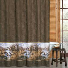 Hunting Themed Home Decor by Duck Approach Shower Curtain Duck Hunting Bathroom Decor Tsc