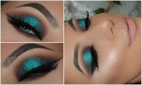 halo teal pop of colour smokey eye amys makeup box youtube