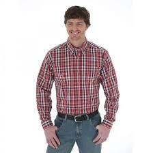 Rugged Wear Clothing Wrangler Rugged Wear Wrinkle Resist Button Down Plaid Shirt