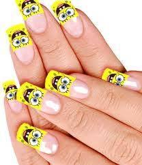 spongebob nail art step by nail art ideas