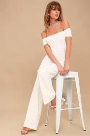 white jumpsuit white jumpsuit the shoulder jumpsuit