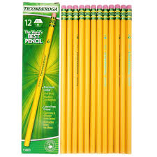 classmate pencils ticonderoga 13883 woodcase pencil hb 3 yellow pack