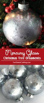 mercury glass tree ornaments two crafting