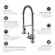 Kitchen Sink Faucet With Sprayer by Campania Single Handle Kitchen Sink Faucet With Pull Down Sprayer