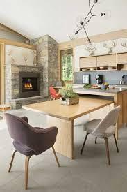 cuisine coin repas grand coin repas dans une cuisine moderne en bois clair