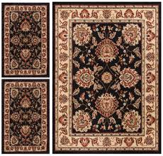 Black And Beige Area Rugs Abby Oriental Persian Floral Traditional Modern Classic