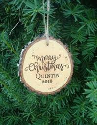 one custom wood ornament engraved ornament personalized