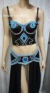 League Legends Halloween Costume League Legends Janna Cosplay Dance Costume Rave Bra Rave Wear