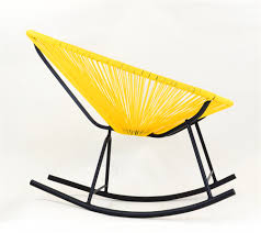 Indoor Outdoor Furniture by Acapulco Rocking Chair Yellow The Khazana Home Austin Furniture