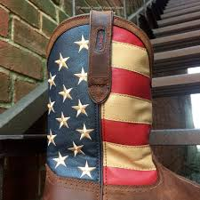 1876 American Flag Durango Rebel Men U0027s Leather American Flag Pull On Steel Toe Work