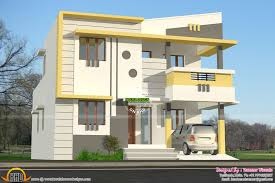 modern style small double storied home kerala home design and