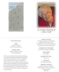 memorial service guest books obituary for alma dahl guest book
