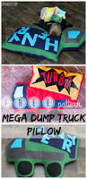 free mega dump truck floor pillow sewing pattern release