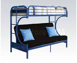 Metal Futon Bunk Bed Eclipse Metal Futon Bunk Bed Blue Acme