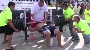 man attempts 725 pound world record bench press u0026 fails miserably