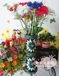 Fake Flowers For Home Decor Handmade Clay Vase Ornaments Home Decor Fake Flowers Potted Clay