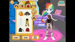 my little pony equestria girls halloween party mlp dress up games