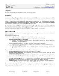 chemical engineering environmental resume sales engineering sample