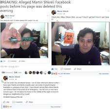 martin shkreli claims on facebook have clinton u0027s