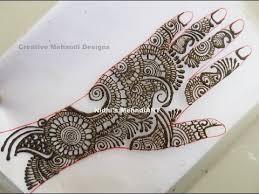 traditional full hand arabic henna mehndi design tutorial youtube