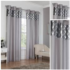 Terracotta Curtains Ready Made by Astoria Silver Ring Top Eyelet Fully Lined Readymade Curtains