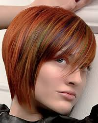 short red hair with highlights hairstyle picture magz