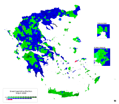 2000 Election Map Greek Election Maps
