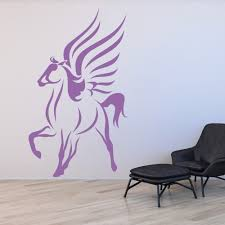 pegasus outline fantasy mythical creatures wall stickers home pegasus outline fantasy mythical creatures wall stickers home decor art decals