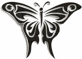 images of tribal butterfly design by sc