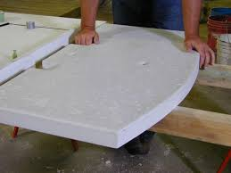 how to de form polish and install a customized concrete vanity