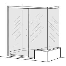 800 Pivot Shower Door by Euro Frameless Pivot Shower Door With In Line Panel And Return
