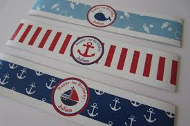 personalized printable bottle wrappers bottle labels nautical