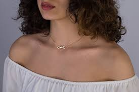 tiny name necklace tiny arabic name choker necklace gold arabic necklace