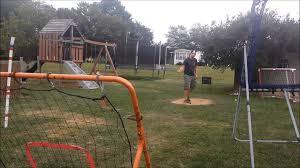 backyard baseball self pitch on baseball rebounder youtube
