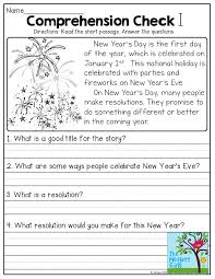 christmas reading comprehension worksheets for first grade