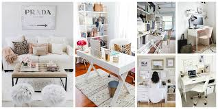 White Decor Bloggers U0027 Office Decor Glam White Versus Mysterious Dark U2013 The