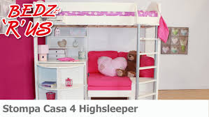 High Sleeper Beds With Sofa Stompa Casa 4 Highsleeper Bed Bedzrus