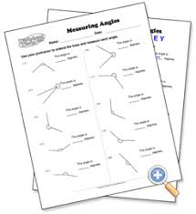 measuring angles worksheetworks com mathematics pinterest