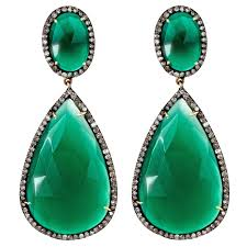 green earrings green onyx drop earrings j hadley jewelry kaufmann mercantile