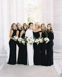 black bridesmaid dresses chic black bridesmaid dresses martha stewart weddings