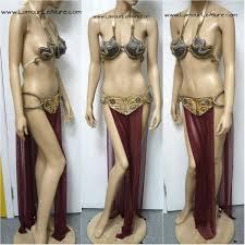 star wars princess leia slave diamond samba cage bra cosplay dance
