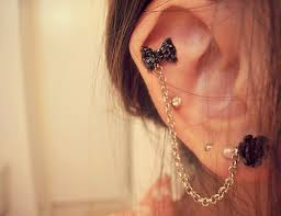 earring with chain to cartilage cartilage chain earring fashion faves