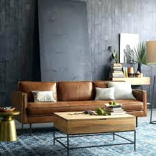 leather sofa living room tan couch living room ideas west elm leather couch brown leather