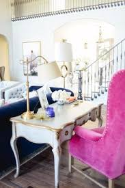 Pink Living Room Furniture Office Space Of The Day Rach Parcell Pink Office Spaces Peony