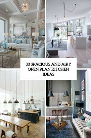 Gray And White Kitchen Ideas 30 Spacious And Airy Open Plan Kitchen Ideas Digsdigs