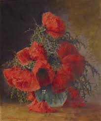 Vase With Red Poppies Max Theodor Streckenbach Artnet