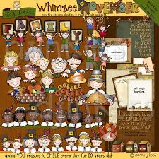 whimsical family clip and borders for thanksgiving by dj