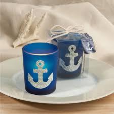 nautical wedding favors blue nautical anchor design candle wedding favors