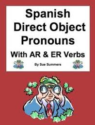 spanish direct and indirect object pronoun worksheet writing in