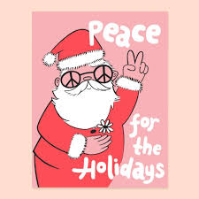 peace santa card moorea seal